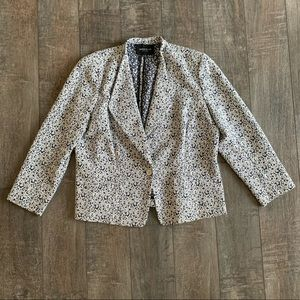 Lafayette 148 Printed One-Button Blazer